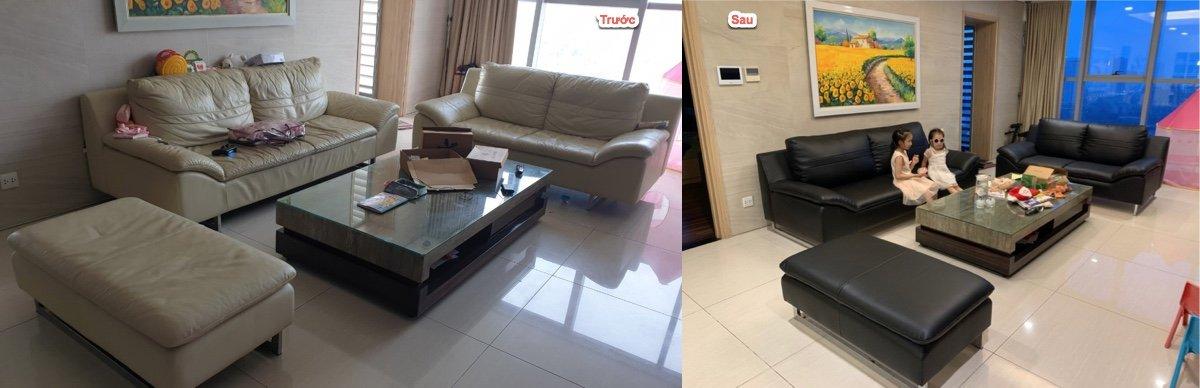 Bọc lại ghế sofa da tại Hoàng Huy